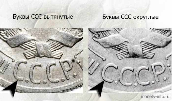 буквы СССР на 20коп
