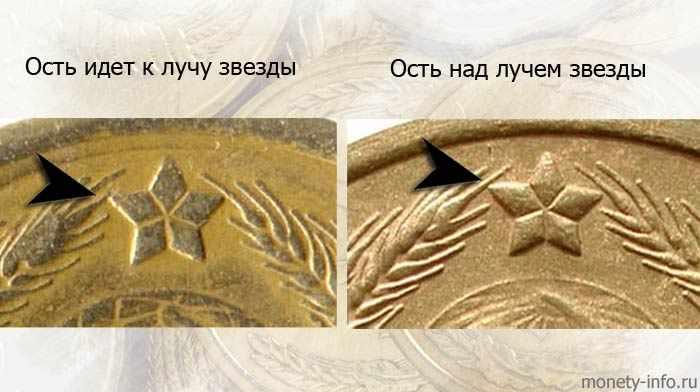 ости на советских монетах