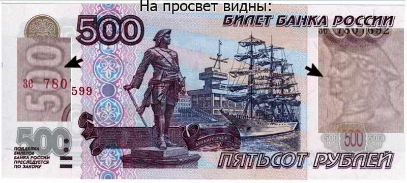 что нарисовано на банкноте старого образца