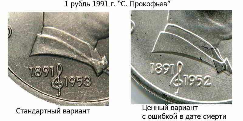 фото ценного советского рубля 1991 года