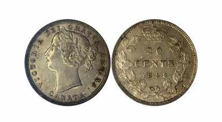 Первые монеты Канады