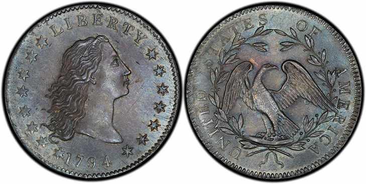 Серебряный доллар 1794 года