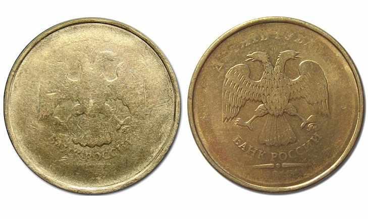 Слабый прочекан 10 рублей 2011