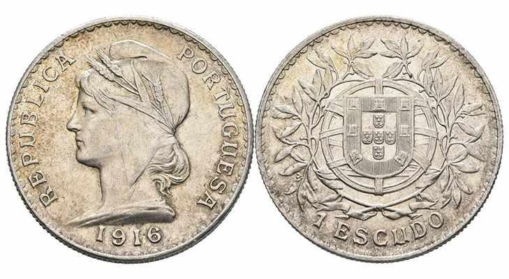 Португальский эскудо 1916 года