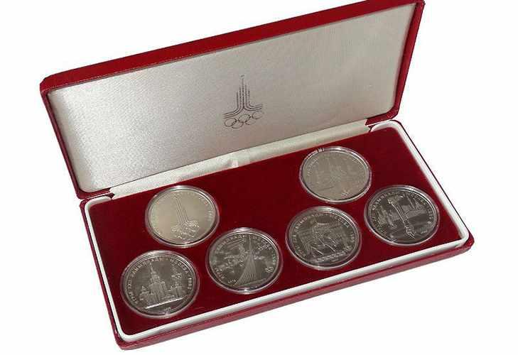 Памятные монеты к Олимпиаде 80