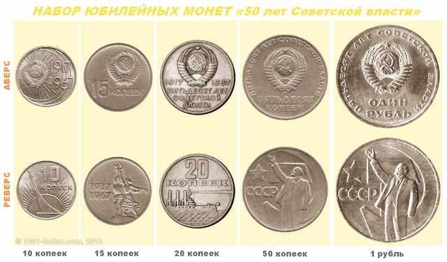 Набор монет серии 50 лет Советской власти