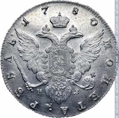 Монета &gt, 1рубль, 1777-1782 - Россия - obverse