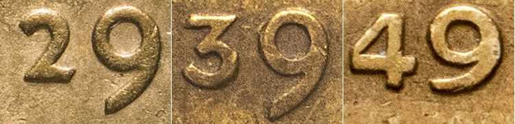 даты на монетах