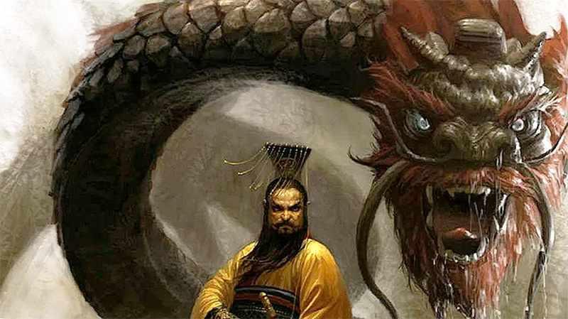 Император на фоне Дракона