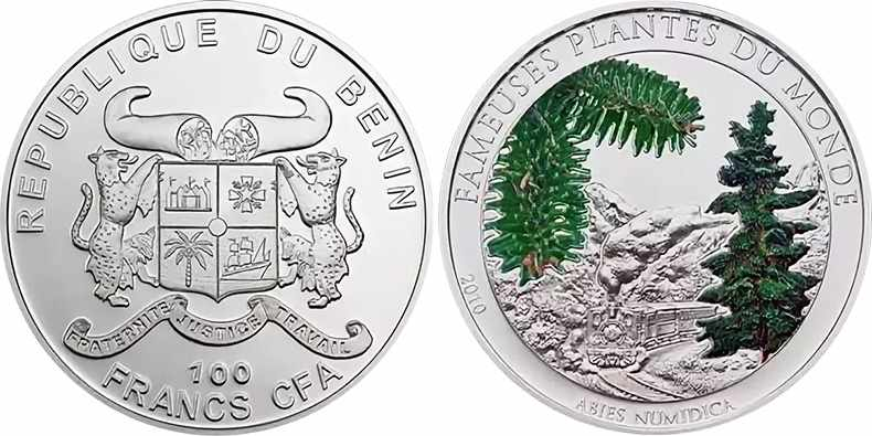 монета с запахом пихты