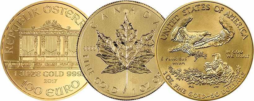 Современные золотые иностранные монеты для инвестиций