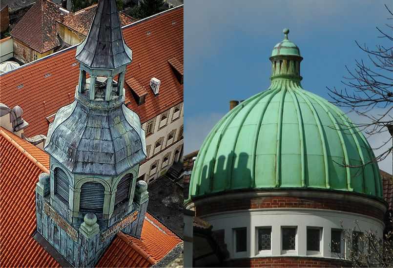 патина на крышах