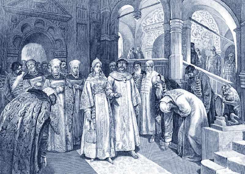 Василий III и Елена Глинская